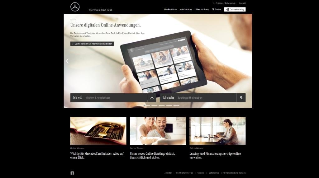 Mercedes Benz Bank Mit Neuem Online Auftritt Flottede Flottenmanagement Fuhrpark
