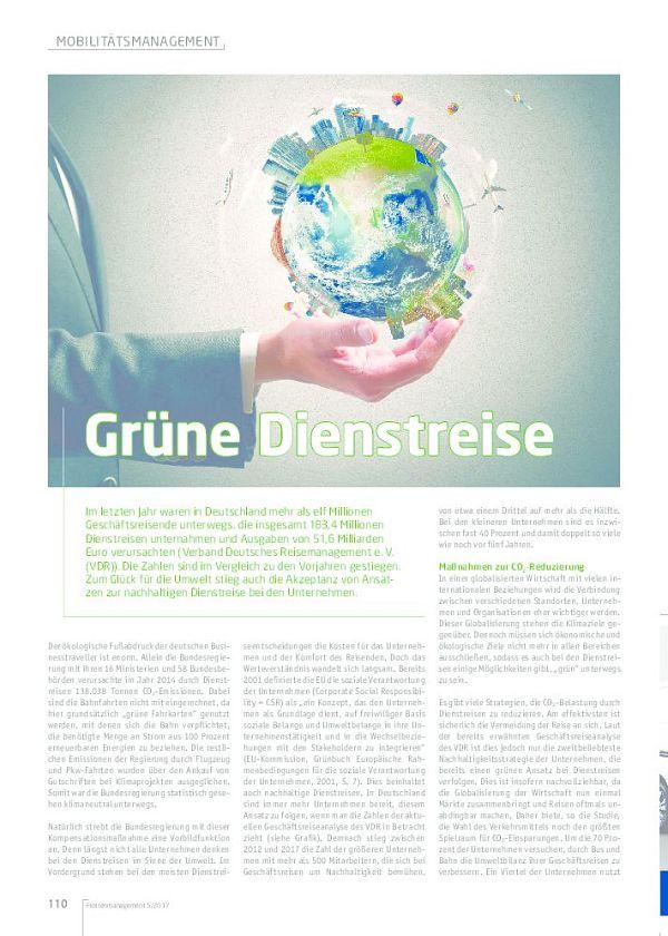 Grüne Dienstreise, Flotte.de, Flottenmanagement, Fuhrpark